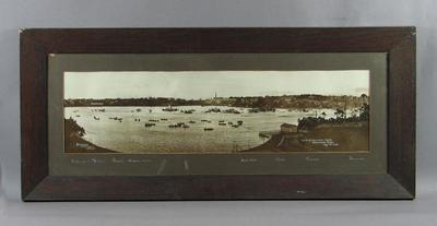 Photograph depicting Finish of Interstate Eights on the Parramatta River, 1922