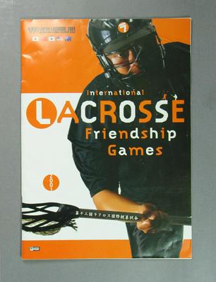 Programme, International Lacrosse Friendship Games - 2001