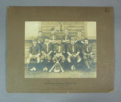 Photograph of Hawthorn-East Melbourne Baseball Club, 1923