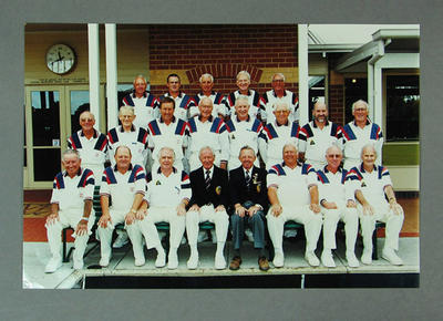 Photograph of Melbourne Cricket Club Bowls Section RVBA Fifth Side - 2000-01