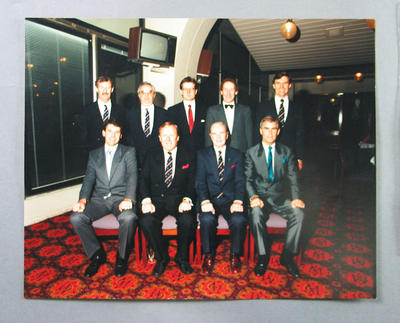 Photograph of MCC Squash Section members, c 1991