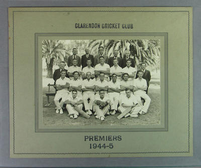 Photograph of Clarendon Cricket Club, Premiers 1944/45