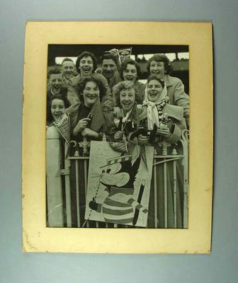 Photograph of Geelong FC supporters - VFL Grand Final, 29 September 1951; Photography; 1993.2908.1