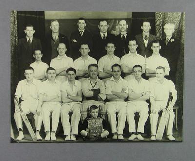 Photograph of Clarendon Cricket Club - season 1936/37; Photography; M14362.1