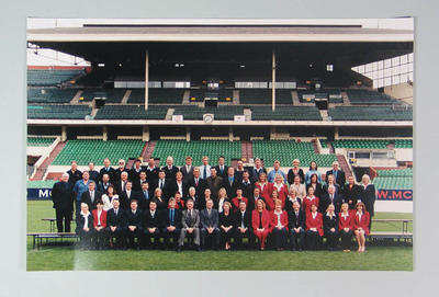 Photograph, Melbourne Cricket Club Staff in front of the Members Pavilion - Oct 2003; Photography; M10471