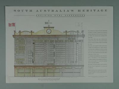 "Poster, ""South Australia's Heritage - Adelaide Oval Scoreboard"""