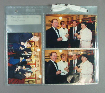 Photographs of the MCC Squash Section dinner, 27 October 1995; Photography; M14367