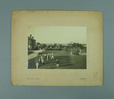 Photograph of Fairfield Bowling Club, c1911