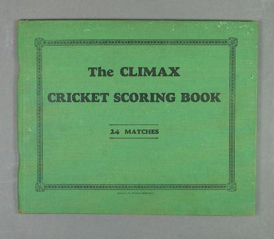 Score book, Albert Park Old Boys Cricket Club - season 1941-42; Documents and books; M14400