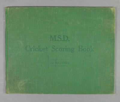Score book, Albert Park Old Boys Cricket Club - season 1939-40; Documents and books; M14401