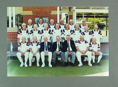 Photograph of MCC Bowls Section team, Sixth Side, RVBA Season 2001-2002, Section winners
