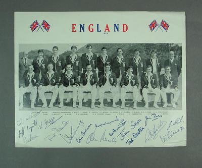 Poster photograph, England Cricket Team 1969