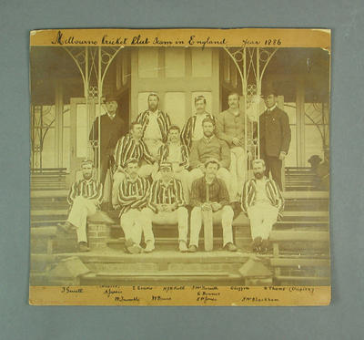 Photograph, Melbourne Cricket Club Team in England - 1889; Photography; M10113