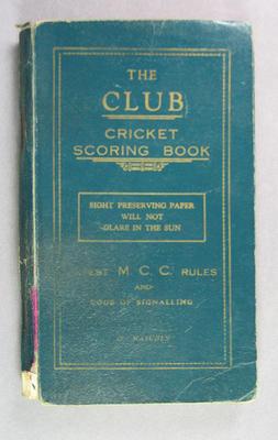 Score book, Albert Park Old Boys Cricket Club - season 1937-38; Documents and books; M14418