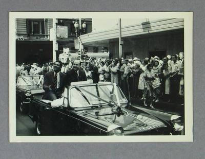 Photograph -  West Indies team - Australian tour,  Melbourne parade  Feb. 1961; Photography; M10009