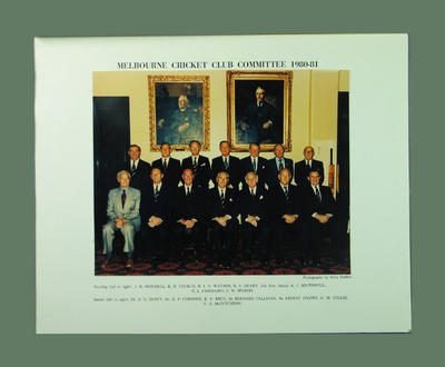 Photograph, Melbourne Cricket Club Committee 1980-81