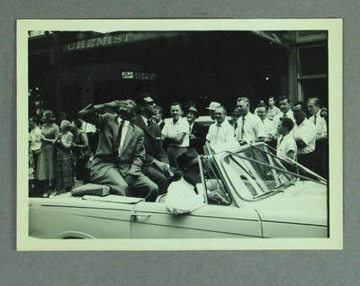 Photograph - West Indies XI Australian tour, Melbourne parade February 1961