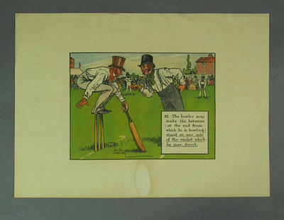 """Print, """"Standing on a Wicket"""""""