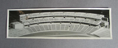 Photograph of model depicting proposed Northern Stand at MCG, c1956