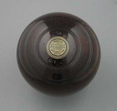 Lawn bowl, manufactured by Jaques & Son c1928