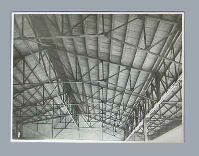 Photograph of Melbourne Cricket Ground grandstand interior, c1950s