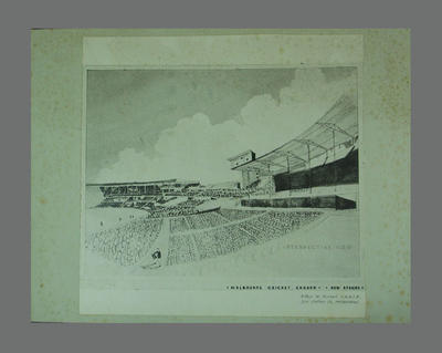 Architect's plan, proposed new stands at Melbourne Cricket Ground - c1950s