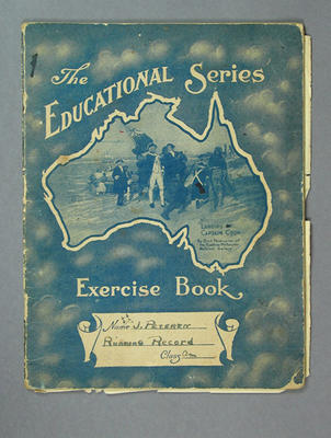 Notebook, contains sporting records c1930s