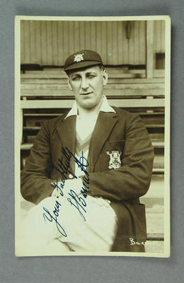 Postcard, photograph of Fred Barratt