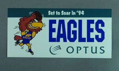 Sticker, West Coast Eagles FC c1994; Games and toys; 1994.3016.11