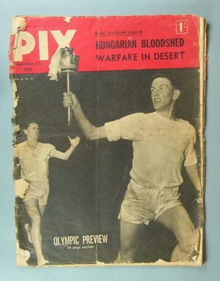"""Magazine, """"PIX"""" 24 Nov 1956"""