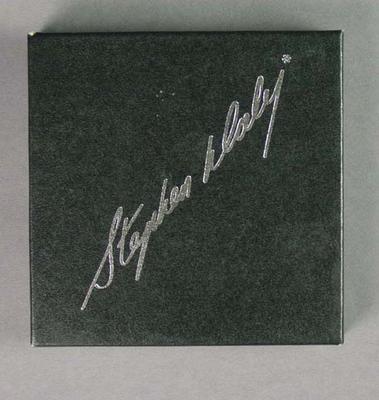 Box for coasters, MCC XXIX Club Silver Anniversary Dinner - Sept 1981