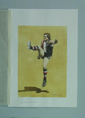 Watercolour, Tony Lockett, by artist Robert Ingpen 2002, MCC Tapestry no 164; Artwork; M10426