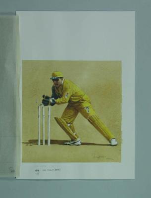 Watercolour, Ian Healy, by artist Robert Ingpen 2002,  MCC Tapestry no.173; Artwork; M10435
