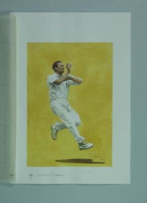 Watercolour, Allan Donald, by artist Robert Ingpen 2002,  MCC Tapestry no.171; Artwork; M10433
