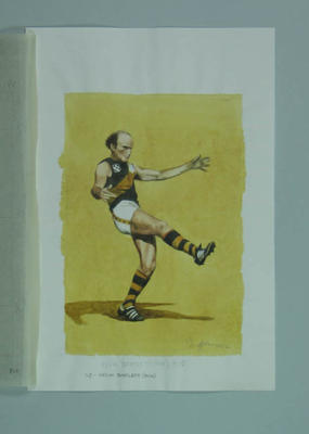 Watercolour, Kevin Bartlett, by artist Robert Ingpen 2002, MCC Tapestry no.146; Artwork; M10406