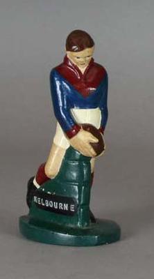 Plaster figure, Melbourne FC footballer c1957
