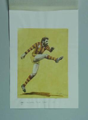 Watercolour, Michael Tuck, by artist Robert Ingpen 2002,  MCC Tapestry no.161; Artwork; M10423