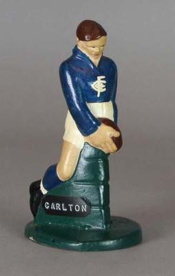 Plaster figure, Carlton FC footballer c1957