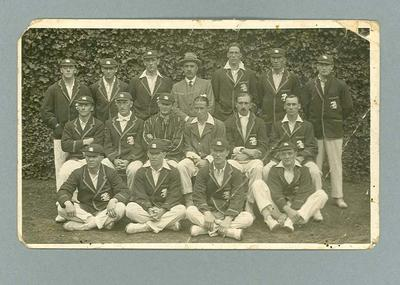 Photograph of England XI, 1921; Documents and books; 1992.2564