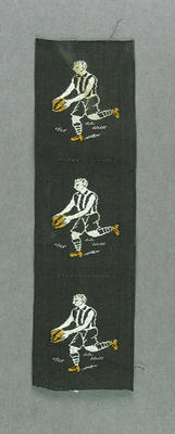 Cloth, embroidered Collingwood FC players