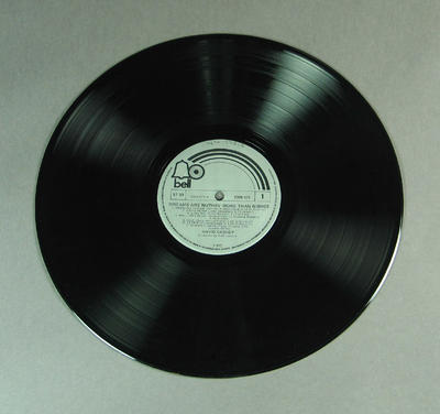 """Black vinyl 12"""" record by David Cassidy, titled 'Dreams are Nuthin' more than Wishes'"""