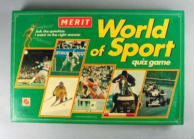 Board game - 'World of Sport ' Quiz Game, maker Merit.