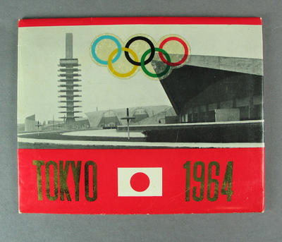 Postcard folder, 1964 Tokyo Olympic Games; Documents and books; 1991.2480.89