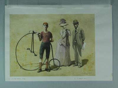 Watercolour, Austral Wheel Race & R Bagot, by artist Robert Ingpen 2001, MCC Tapestry nos.20 & 21; Artwork; M10363