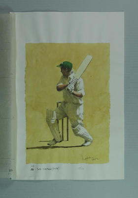 Watercolour, Bob Simpson, by artist Robert Ingpen 2002,  MCC Tapestry no.115