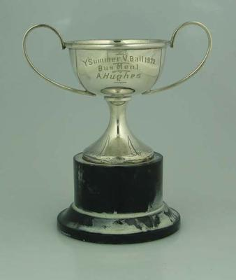 Trophy, awarded to Allan Hughes in 1932