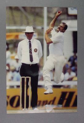 Photograph of Dennis Lillee, bowling; Photography; M14674