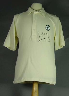 Australian cricket shirt, worn by Dean Jones; Clothing or accessories; M13456