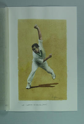 Watercolour, Graham McKenzie, by artist Robert Ingpen 2002, MCC Tapestry no.123; Artwork; M10386