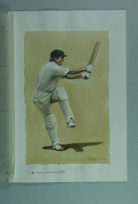 Watercolour, Keith Stackpole, by artist Robert Ingpen 2002,  MCC Tapestry no.128; Artwork; M10391